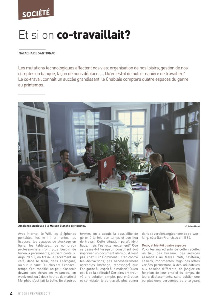 article coworking le vendredi monthey